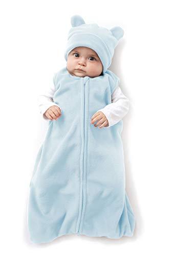 Cuddle Club Schlafsack Baby und Neugeborene - Tragbare Decke - Baby Schlafsack aus Fleece - BearWBBlueM
