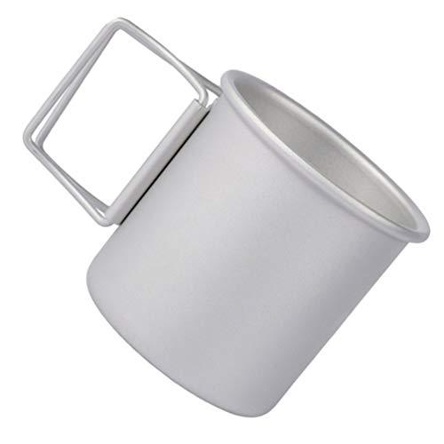 CLISPEED Taza Plegable para Acampar Taza de Aleación de Aluminio Taza de...