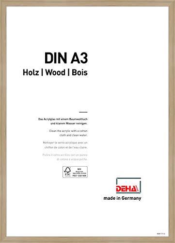 DEHA Holz Bilderrahmen Fontana, 29,7x42 cm (A3), Eiche