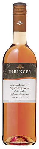 Ihringer Winklerberg Spätburgunder Weißherbst Kabinett lieblich 0,75 L, Artikel N. 91336, Mindestbestellmenge 6 Flaschen aus dem Gesamtsortiment