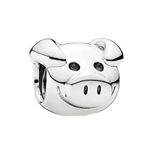 Regalo De Mujer S925 Plata De Ley Serie De Animales De Dibujos Animados Diseño del Zodiaco Encanto Simple Y De Moda con Cuentas DIY Accesorios para Hacer Joyas M2