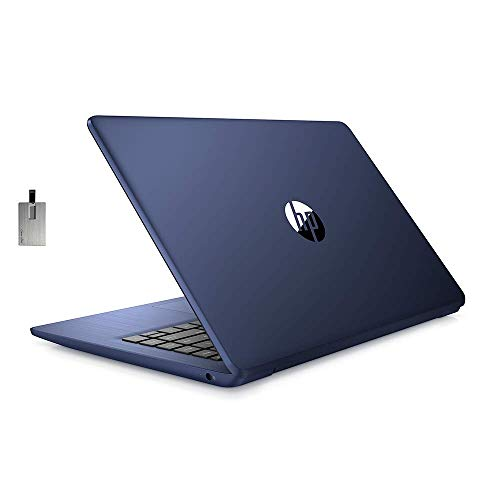 "2020 HP Stream 14"" HD SVA Laptop Computer, Intel Celeron N4000 Processor, 4GB RAM, 64GB eMMC Flash Memory, Intel UHD Graphics, 1-Year Office, Bluetooth, Win 10S, Royal Blue, 128GB SnowBell USB Card"