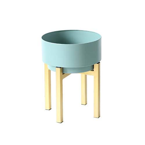 Ali@ Moderne Minimaliste Vert Fleur Stand En Fer Forgé Intérieur Salon Balcon Fleur Pot Étagère Amovible Portable Creative - Type De Sol (Couleur : Green, taille : 54 * 24cm)