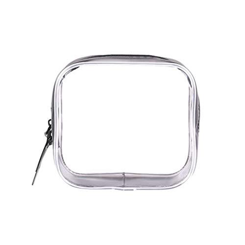 Dragonaur - 1 trousse de toilette transparente en PVC avec fermeture éclair - Sac de voyage étanche - Sacs de rangement pour cosmétiques - S
