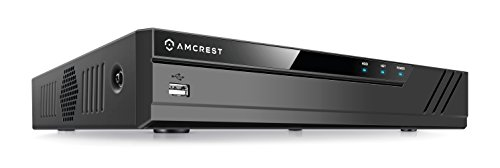 Amcrest NV4108-HS 4K 8CH NVR (1080p/3MP/4MP/5MP/6MP/8MP) Network Video Recorder - Supports up to 8 x 4K (8MP) IP Cameras @30fps, Supports up to 6TB HDD (Not Included) (No Built-in WiFi) 2020 Version
