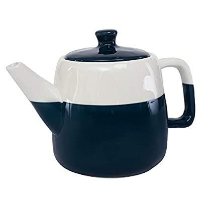 Hompiks Tea Pot Porcelain Teapot Large Tea Pots for Tea Party Decorative Loose Tea 38 oz Dark Blue