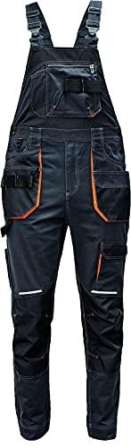 DINOZAVR Emerton Plus Peto de Trabajo para Hombre con Bolsillos para Rodillera y Cintura Elástica - Gris Naranja 64