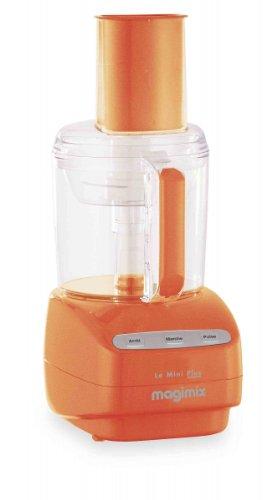 Magimix Mini Plus - Robot de cocina (Naranja, 4,4 kg, 15,5 cm, 21 cm, 230V, Acero inoxidable)