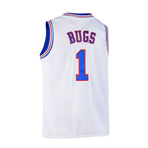 Yuzhanshui Bugs 1 Space Men's Movie Jersey Basketball Jersey White S