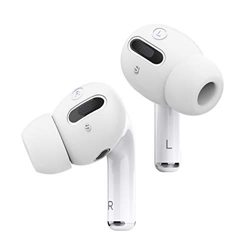 elago Earbuds Cover Plus con Almohadillas Ear Tips Diseñado para Apple AirPods Pro [6 Parejas : 2 Grande + 2 Pequeño] (Blanco)
