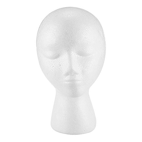 TaoToa Styropor-Schaum-Mannequin-PerüCkenkopf-Anzeigen-Hut-Kappen-PerüCkehalter-Wei?Er Schaum-Kopf