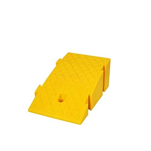 XUZgag Lunghezza 25 cm di plastica rampe, Aula / ufficio Stair Steps senza barriere rampe giuntabili diapositive Rampe / Colori: Nero Giallo Pad in salita sicura ( Color : Yellow , Size : 25*40*16cm )