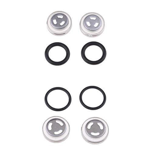 Gazechimp 4 Pcs. Motorrad Ölschauglas Schauglas mit Gummi Dichtung Ersatzteile für Bremszylinder, Φ 18mm + Φ 12mm