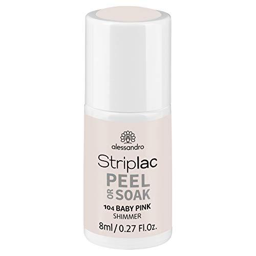 alessandro Striplac Peel or Soak Baby Pink – LED-Nagellack in natürlichem Rosé – Für perfekte Nägel in 15 Minuten – 1 x 8ml