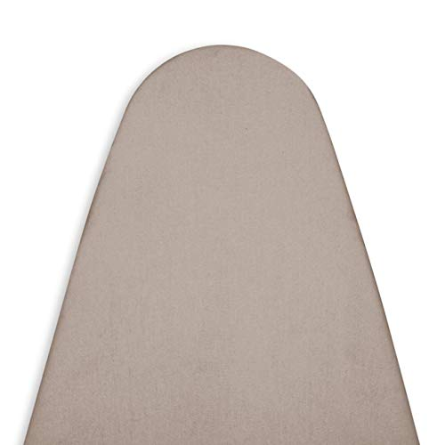 ENCASA Homes Replacement Ironing Board Cover with Extra Thick Pad, Plain Colors, Elasticated, (Fits Standard Wide Boards of 18 x 49 inch) Heat Reflective, Scorch Resistant, Heavy Duty - Beige
