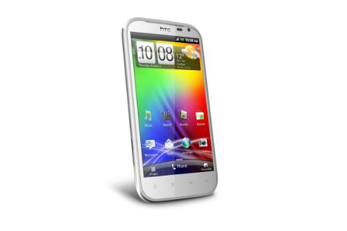 HTC Sensation XL Smartphone mit Beats Audio (11,9 cm (4,7 Zoll) Touchscreen, 8 Megapixel Kamera, Android 2.3 OS, inkl. Beats In-Ear-Kopfhörer) weiß