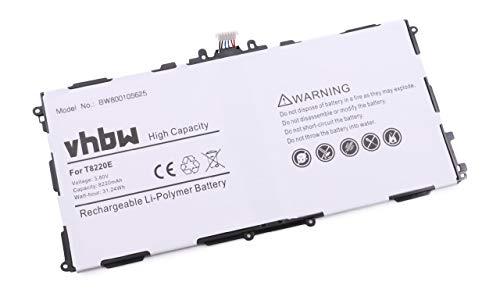 vhbw Akku 8220mAh (3.8V) für Tablet Pad Netbook Samsung Galaxy Tab Pro 10.1 SM-T520 wie AA1DA04WS/7-B, AA1DA2WS/7-B, AAAD828oS/T-B, T8220E.