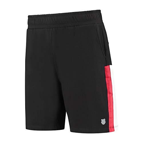 K-Swiss Unisex - Adulto Sport Heritage Sweat Short, Negro, S