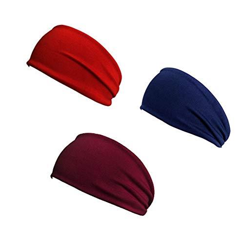 fasce per capelli donna fascia capelli Sweatband Signore fasce Sudore fasce Fascia Fasce per la testa fasce Mens della fascia dei capelli Burgundy red navy blue,1