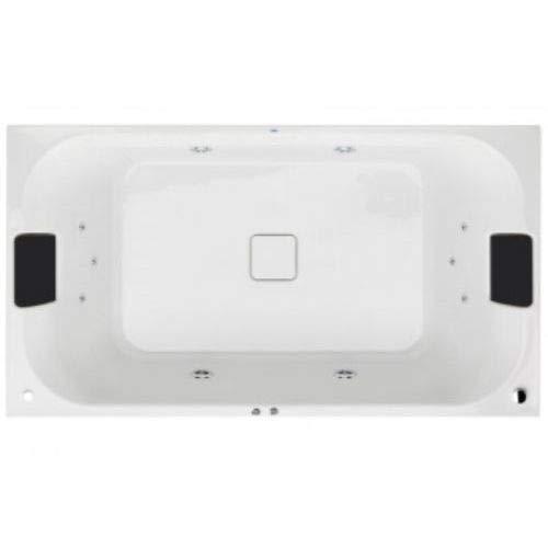 Gala flex center - Banera hidromasaje+pulsador faldon 180x100cm derecha blanco