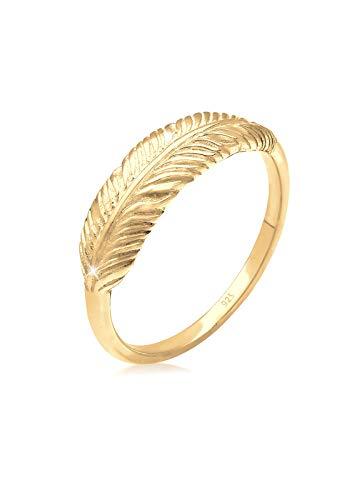 Elli Ring Damen Feder Flügel Boho Trend Festival in 925 Sterling Silber
