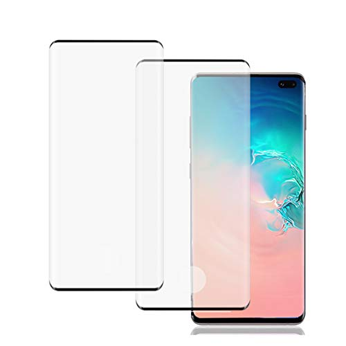 Galaxy S10 Screen Protector, (2 Pack) [9H Hardness] [Support Fingerprint Sensor] [ScratchProof] [No Bubbles] HD Tempered Glass Screen Protector Compatible with Samsung Galaxy S10