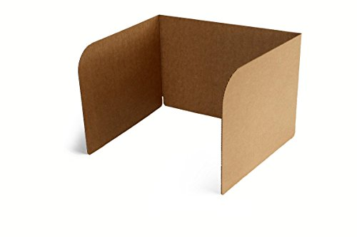 Classroom Products Privacy Shield/Carrel - 13 Inch Tall - Kraft -(Pack of 20)