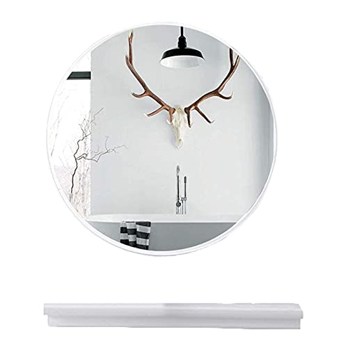 PXY Espejo de Baño Claro Y Práctico, Gabinetes de Baño Montados en la Pared con Espejo, Espejo Redondo con Estante, Espejo de Tocador, Soporte de Espejo Exquisito, Espejo de Alta Definición, Espacio
