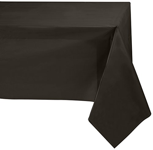 Jubilee 54-Inch-By-108-Inch PEVA Table Cover, 4 Count, Black