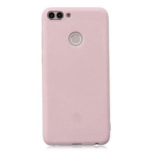 cuzz Huawei Honor 7S Hülle Hülle+{1 x Panzerglas Schutzfolie} Silikon Schutzhülle Handyhülle,Outdoor Stoßfest Schutzhülle Schmaler Handyschutz,Staub & Scratch-Stoßfest-Pink