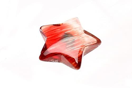 【 福縁閣 】【1点物】 透明 アンデシン 10mm スター 星 ルース_P6416 天然石 パワーストーン ビーズ