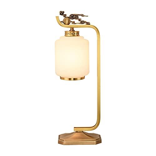 Lampada da comodino Lampada da tavolo rustica in casale Vintage Desk Lamp per soggiorno Camera da letto accanto alla lampada da tavolo in vetro con base in metallo per soggiorno lampada da scrivania