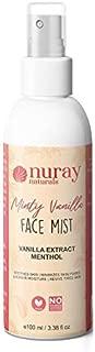 Nuray Naturals Vegan Vanilla Extract and Menthol Face Mist, 100 ml