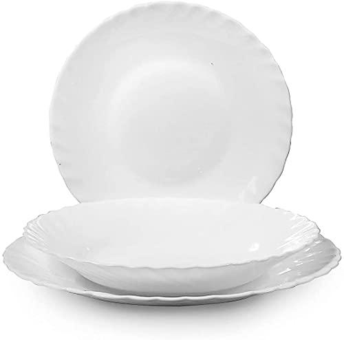 REPLOOD Bormioli Prima - Servicio de platos de mesa, 36 piezas, para 12 personas, Arcopal