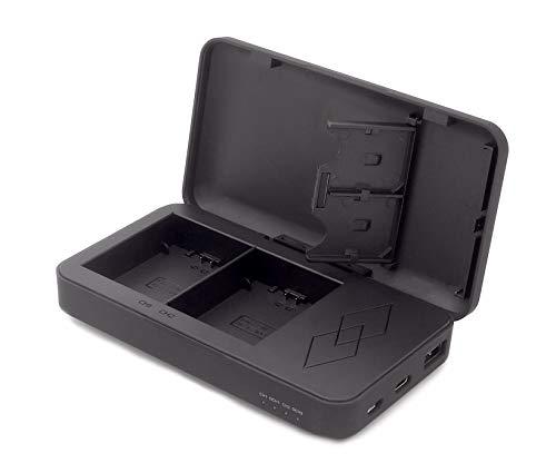 Patona (9891) LP-E6 LP-E6N LP-E6NH - Caricatore per batteria con funzione Powerbank (Powerbook), innovativo caricatore a due vie con uscita USB