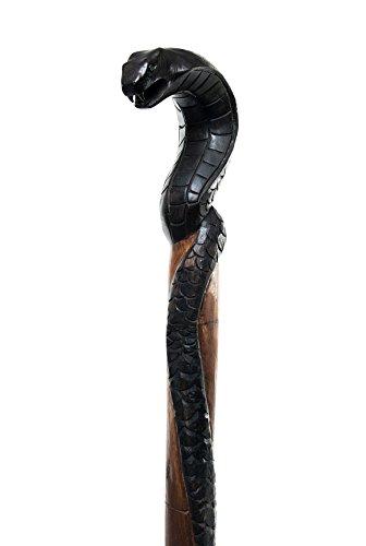 windalf Randonnée Tige Mandrake H : 130 cm serpent noir en bois