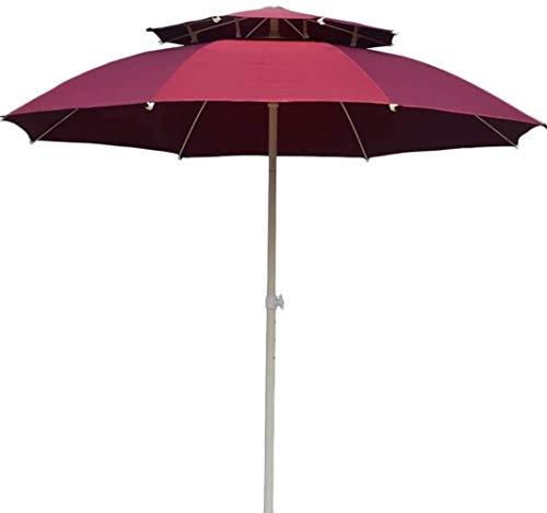 REWD Sombrilla Parasol Jardin Doble Top Mercado Paraguas con manivela de elevación, fácil Ajuste, Sombrillas al Aire Libre for el Patio Trasero, Junto a la Piscina, césped y jardín a Prueba de Viento