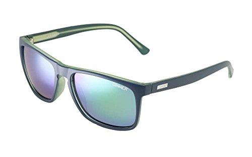 SINNER Erwachsene Sonnenbrille Oak Polycarbonat SINTEC Polarisiert, Matt Blau