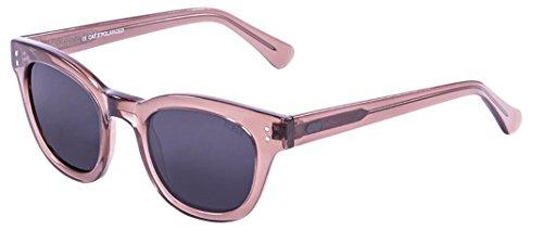 Ocean Sunglasses Santa Cruz-Gafas de Sol Lentes Ginger, Color Transparente y Gris