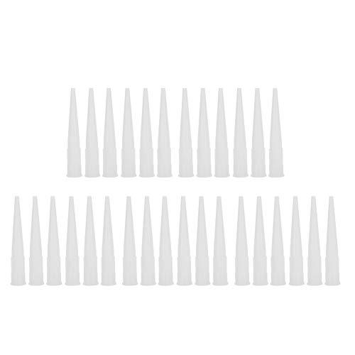 Boquilla de calafateo 30 piezas Boquillas de calafateo Boquillas de pegamento de vidrio de plástico Sellador Puntas de calafateo de silicona Juego de herramientas de extensión de repuesto