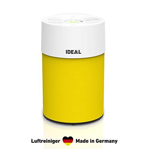 IDEAL - Luchtreiniger AP30 PRO tot 40m2 | Made in Germany | HEPA-filter en actieve koolfilter, CADR 301 m3/h, 99,99% filtervermogen (allergenen, geuren, fijnstof, sigarettenrook.) | Kleur geel