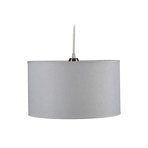 TU TENDENCIA ÚNICA Lámpara de Techo Colgante. Pantalla de Tela [Clase de Eficiencia Energética A++] Bombilla E27 (Blanco)