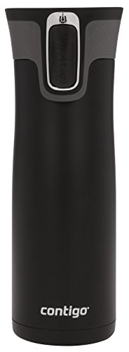 Contigo Autoseal West Loop Vacuum-Insulated Stainless Steel Travel Mug with Easy-Clean Lid, 20 Oz., Matte Black