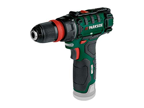 Parkside 12V Cordless Drill Screwdriver Set PBSA 12 D4 2 Speed Gearbox – Bare Unit Battery and Charger are not Included. Comes with Plastic