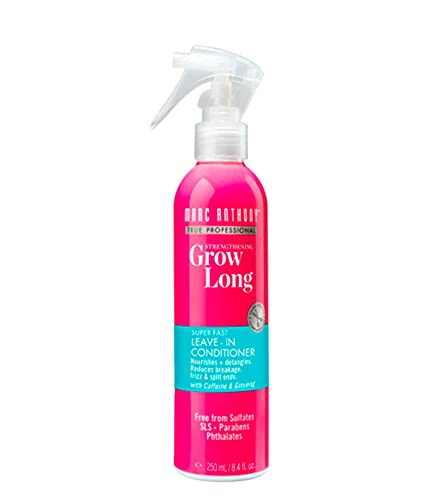 Marc Anthony Grow Long Vitamin E Leave In Deep Conditioner For Hair Growth & Breakage – Coconut Oil & Grapeseed Oil Heat Protector Spray - Sulfate Free Leave In For Fine, Dry, Damaged & Curly Hair
