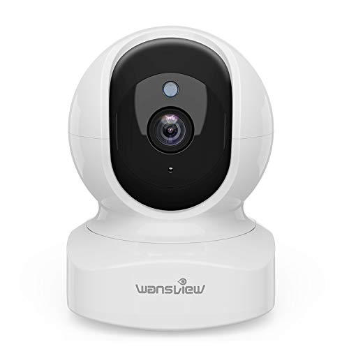Wansview ネットワークカメラ WiFi IPカメラ ワイヤレス屋内防犯カメラ 1080P FHD 200万画素 ベビー/老人/ペット見守り 動体検知 双方向音声 暗視撮影 (白)