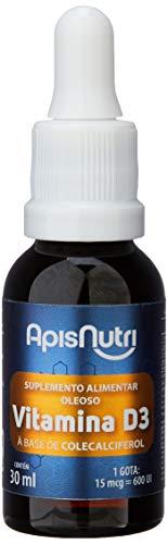 Vitamina D3 Gotas 30ml (1 Gota 15mcg = 600 UI), Apisnutri