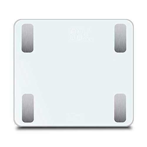 HOUJIA Escala de Peso,con Pantalla LCD Retroiluminada Corporal Báscula Grasa Bascula Grasa...