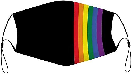 Rainbow Gay Pride - Mascarillas reutilizables lavables ajustables a...