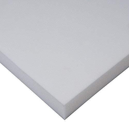 MICAMAMELLAMA Plancha de Viscoelástica para Topper Cubrecolchon Sin Funda (Grosor 4 CM) (135x190x4)